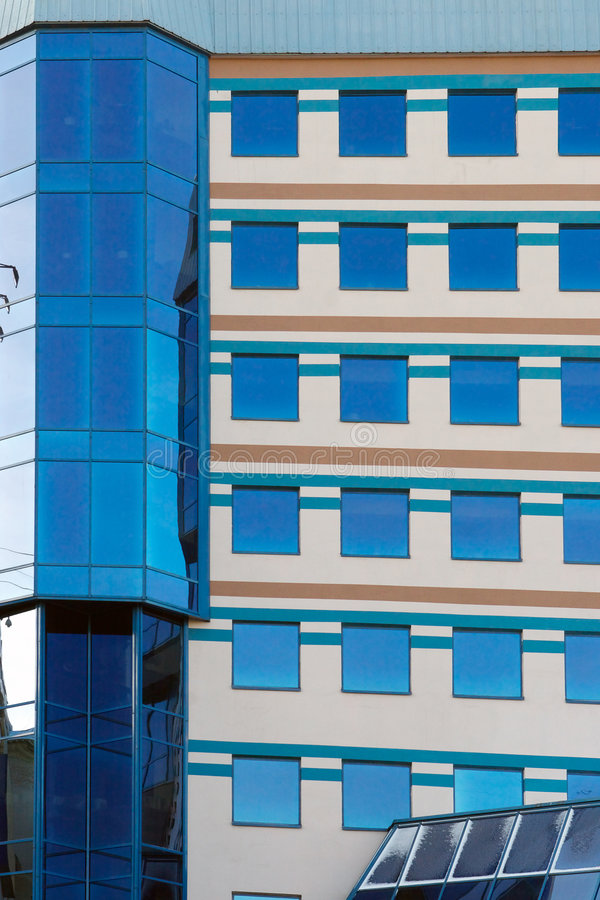 Moderne Bürofenster stockbild