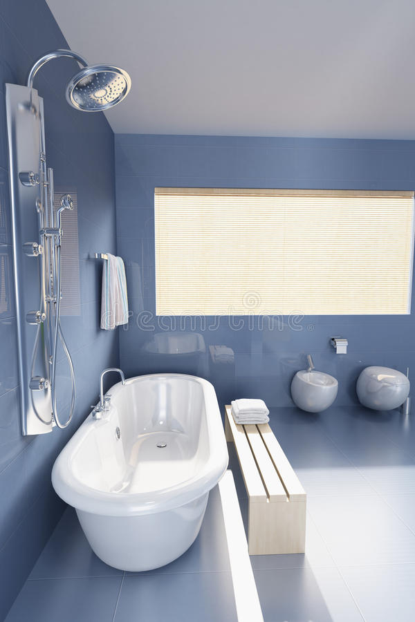 Moderne badkamers stock illustratie