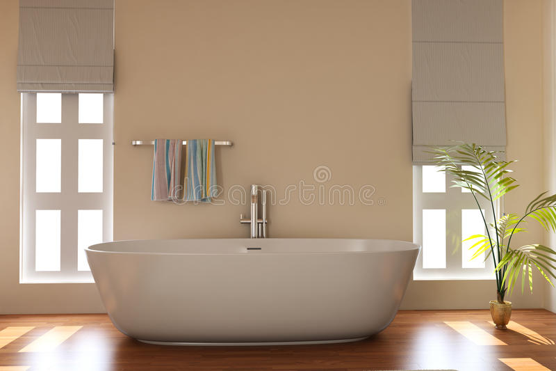 Moderne badkamers vector illustratie