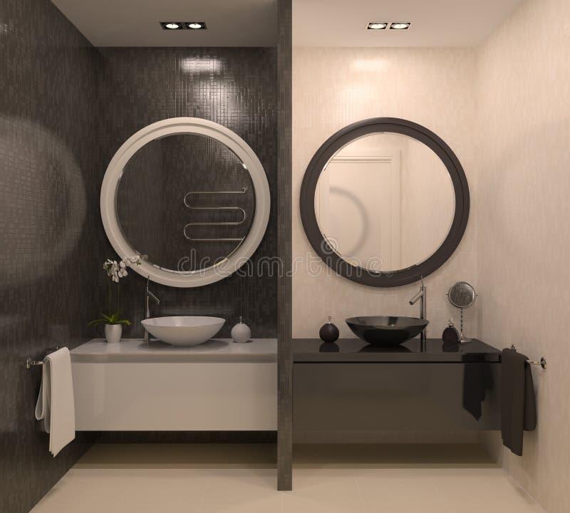 Moderne badkamers. vector illustratie
