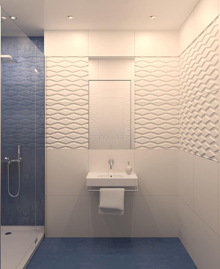 Moderne badkamers. stock illustratie