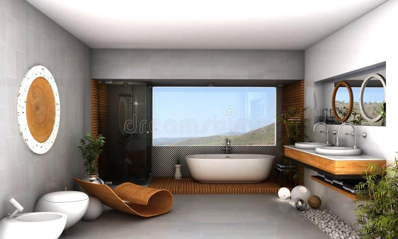 Moderne badkamers royalty-vrije illustratie