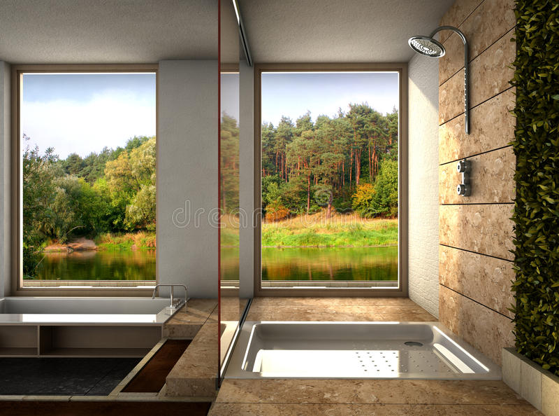 Moderne badkamers stock fotografie