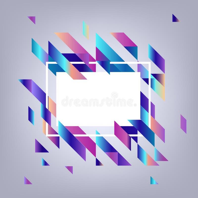 Moderne banner met gradiënt geometrische elementen - abstracte achtergrond met exemplaarruimte royalty-vrije illustratie