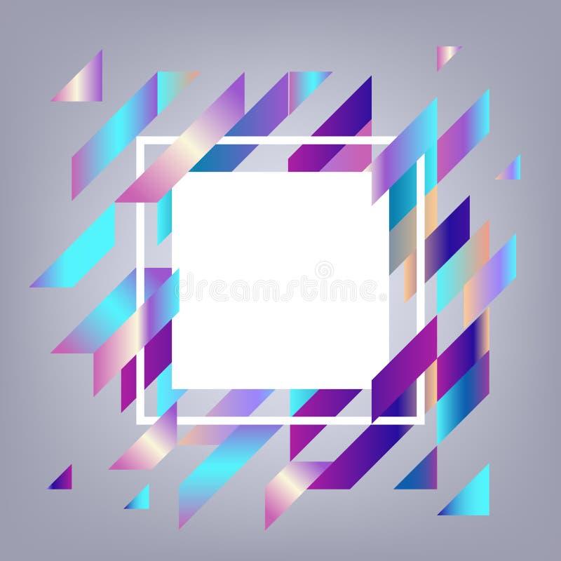 Moderne banner met gradiënt geometrische elementen met exemplaarruimte stock illustratie