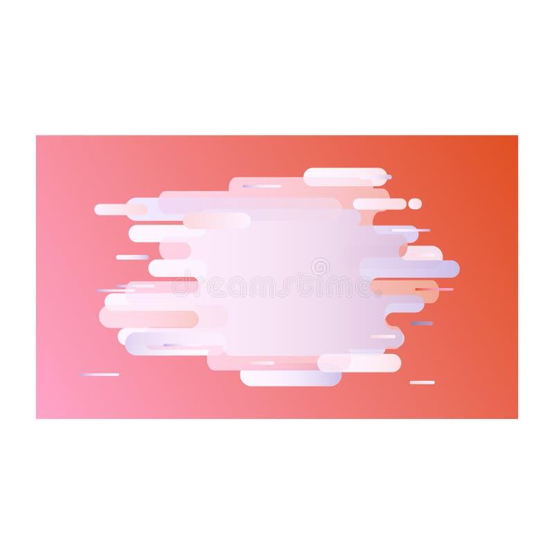 Moderne banner met gradiënt in pastelkleuren - teder malplaatje met vloeibare kleuren abstracte vormen stock illustratie