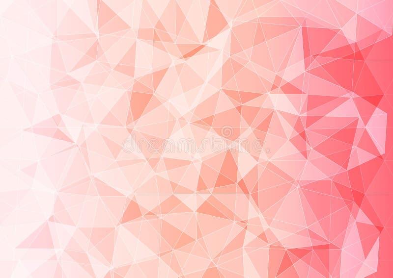 Moderne banner met veelhoekig patroon van roze kleur vector illustratie