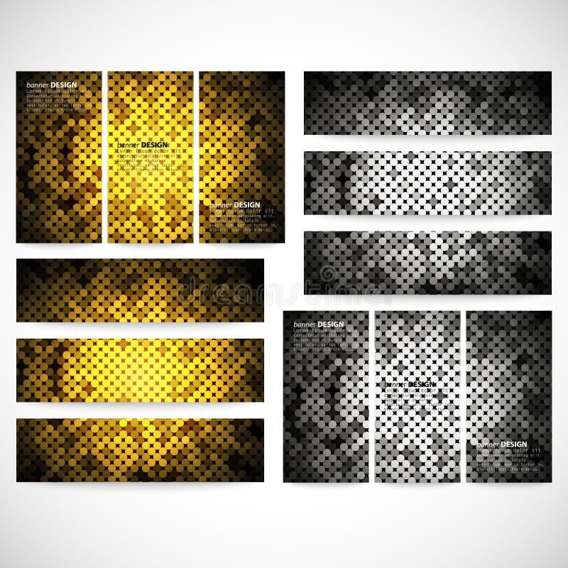 Moderne banners, abstract bannerontwerp, zaken vector illustratie