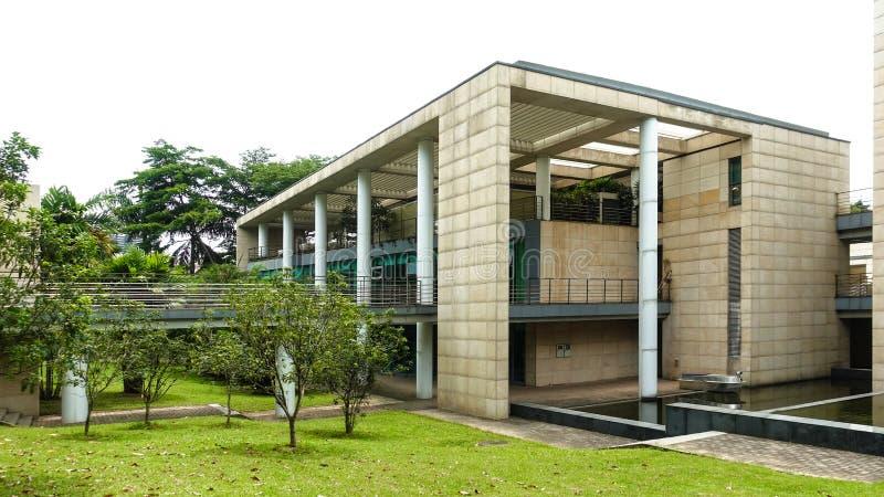 Moderne Baumauer mit Marmorstruktur lizenzfreie stockfotografie