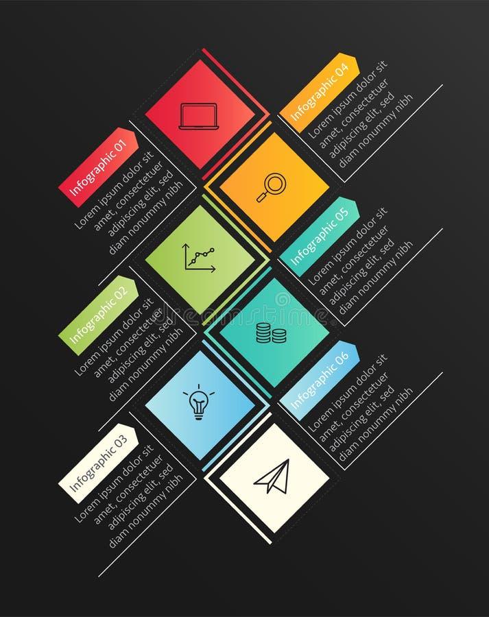 Moderne bedrijfs infographic Vectorillustratie vector illustratie