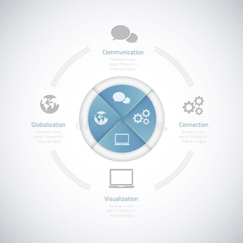 Moderne bedrijfs vectorillustratie infographic op stock illustratie