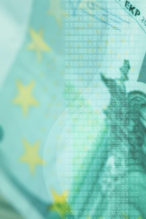 Moderne bedrijfsachtergrond, euro rekening royalty-vrije illustratie