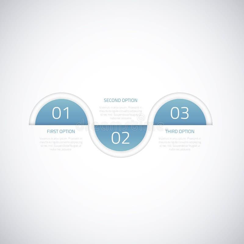 Moderne bedrijfschronologie vector infographic optie vector illustratie