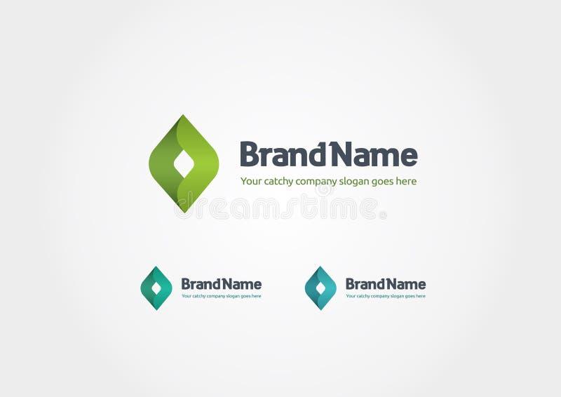 Moderne Bedrijfsembleemidentiteit in groen stock illustratie