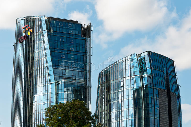 Moderne Bedrijfsgebouwen royalty-vrije stock fotografie