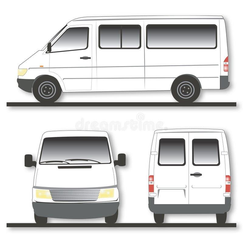 Moderne bestelwagen stock illustratie