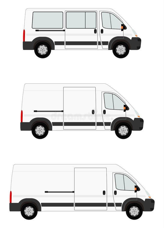 Moderne bestelwagenreeks royalty-vrije illustratie