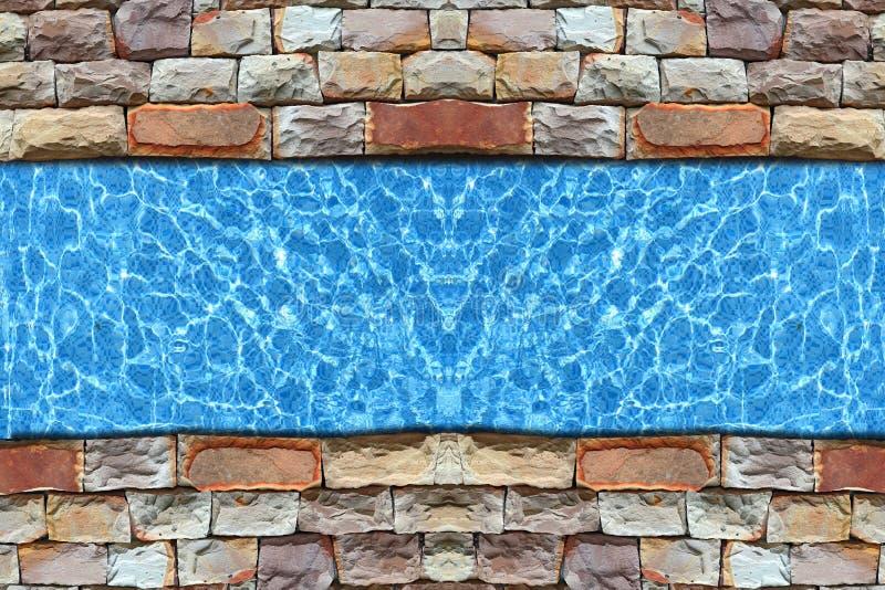 Moderne bestrating met pool royalty-vrije stock afbeelding