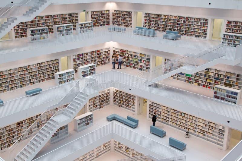 Moderne Bibliotheek stock foto