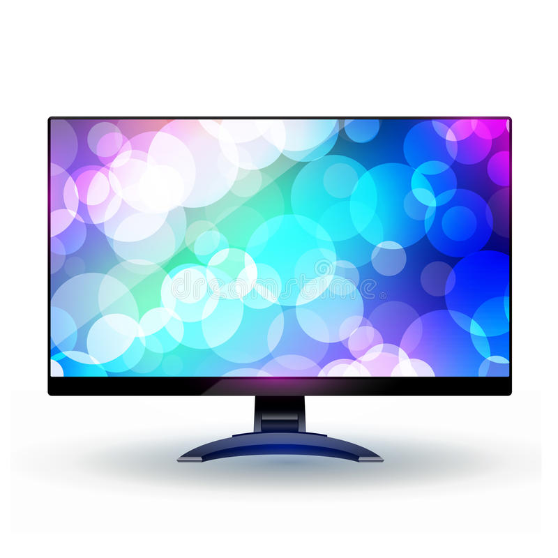 Moderne Bildschirmanzeige 2. des breiten Bildschirms Fernseh. vektor abbildung