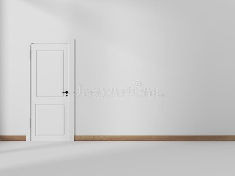 Moderne binnenlandse Spot omhoog Muur en witte deur stock illustratie