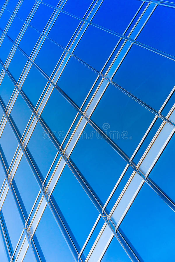Download Moderne Blauwe Glasmuur Van Wolkenkrabber Stock Foto - Afbeelding bestaande uit perspectief, ruit: 39103078