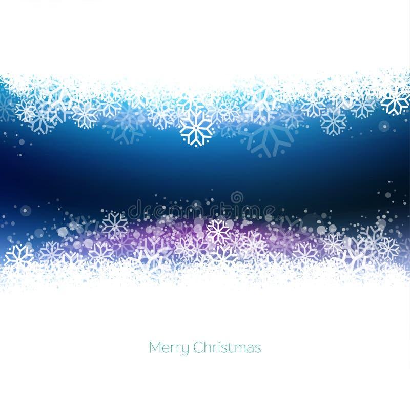 Moderne Blauwe Vrolijke Kerstmisachtergrond royalty-vrije illustratie