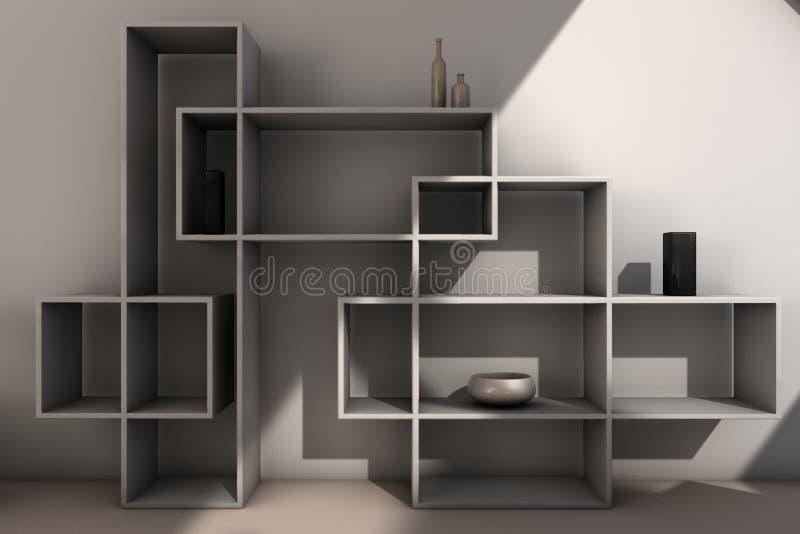 Moderne boekenkast stock illustratie