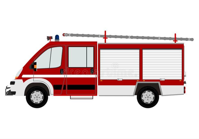 Moderne brandmotor vector illustratie