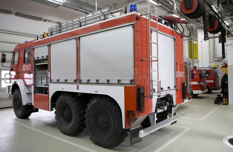 Moderne Brandweerkazerne stock foto