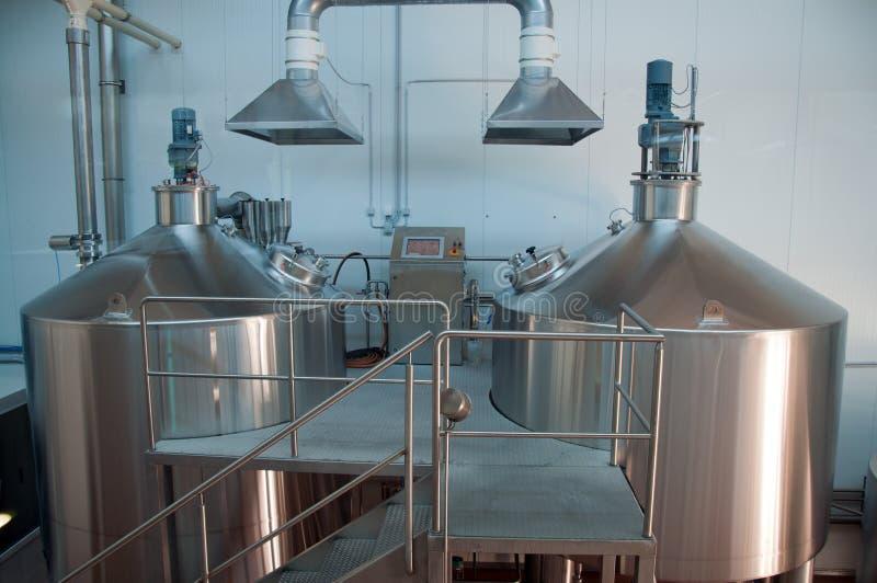 Moderne Brouwerij stock foto's