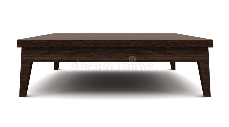 Moderne bruine houten lijst die op wit wordt geïsoleerda vector illustratie