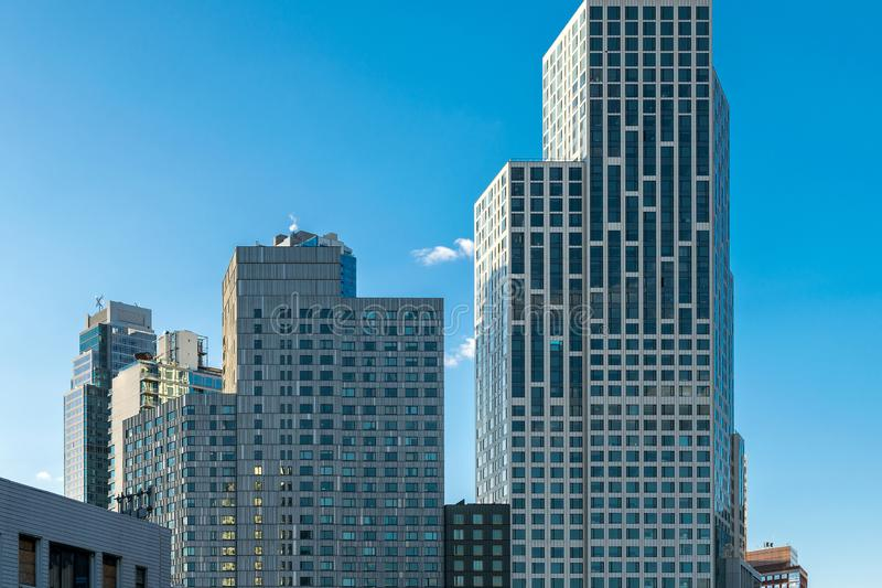 Moderne bureau & flatgebouwen in Brooklyn Van de binnenstad, NY, de V.S. royalty-vrije stock foto's