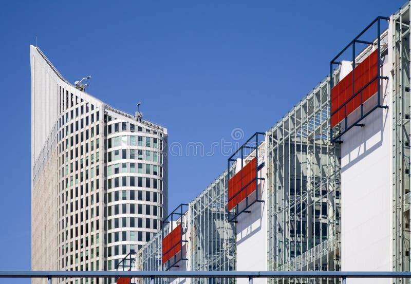Moderne bureaugebouwen royalty-vrije stock afbeelding