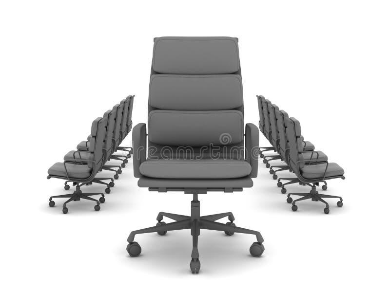 Moderne bureaustoelen royalty-vrije illustratie