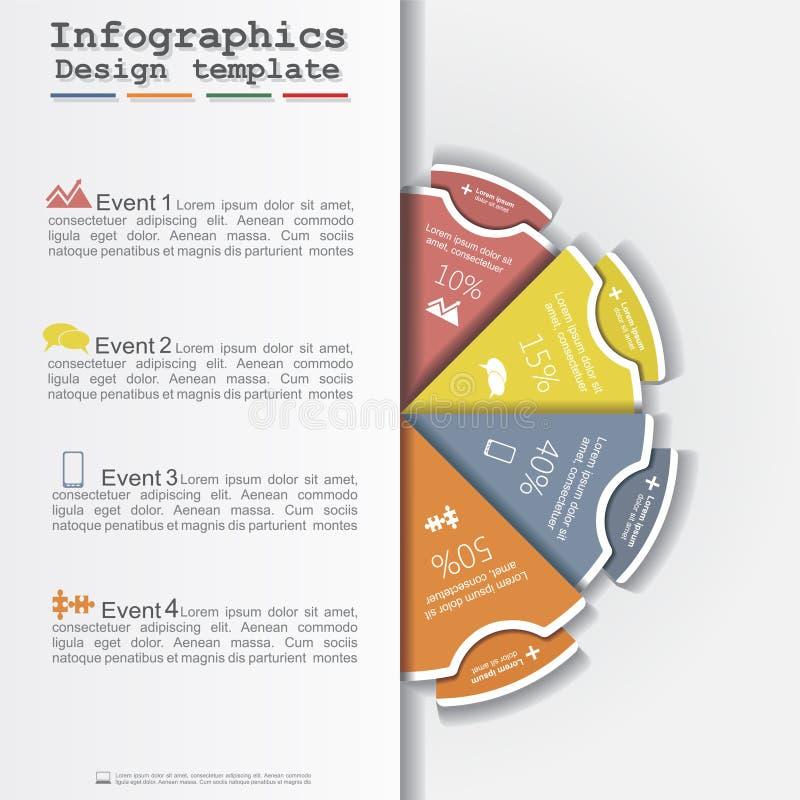 Moderne cirkellay-out de bedrijfs van Infographics Vector royalty-vrije illustratie