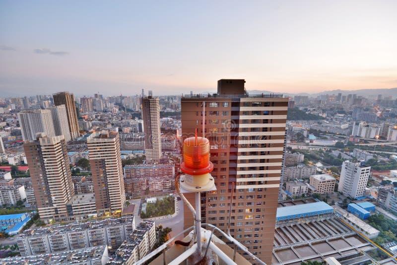 Moderne cityscape in Kunming-stad royalty-vrije stock foto's