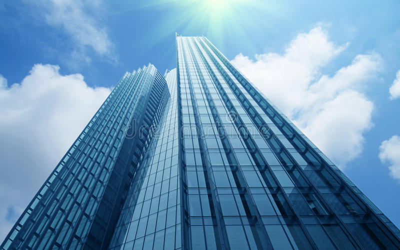 Moderne commerciële gebouwen royalty-vrije stock fotografie