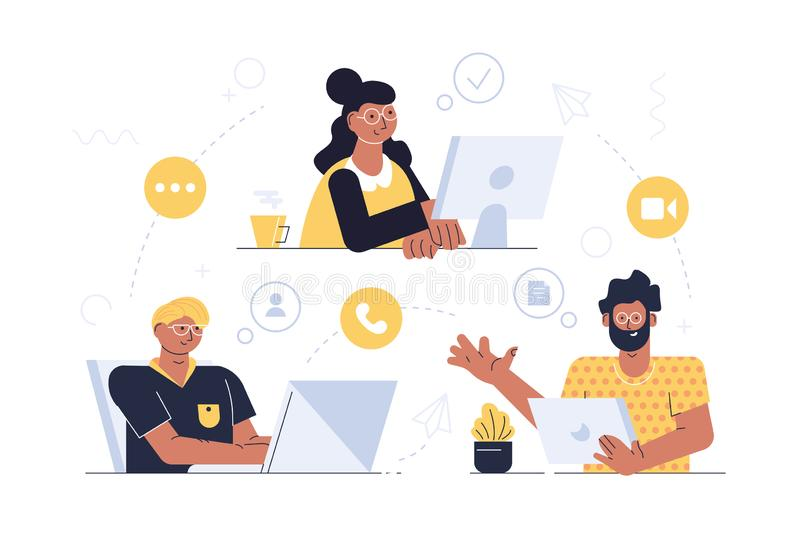 Moderne communicatie technologie stock illustratie