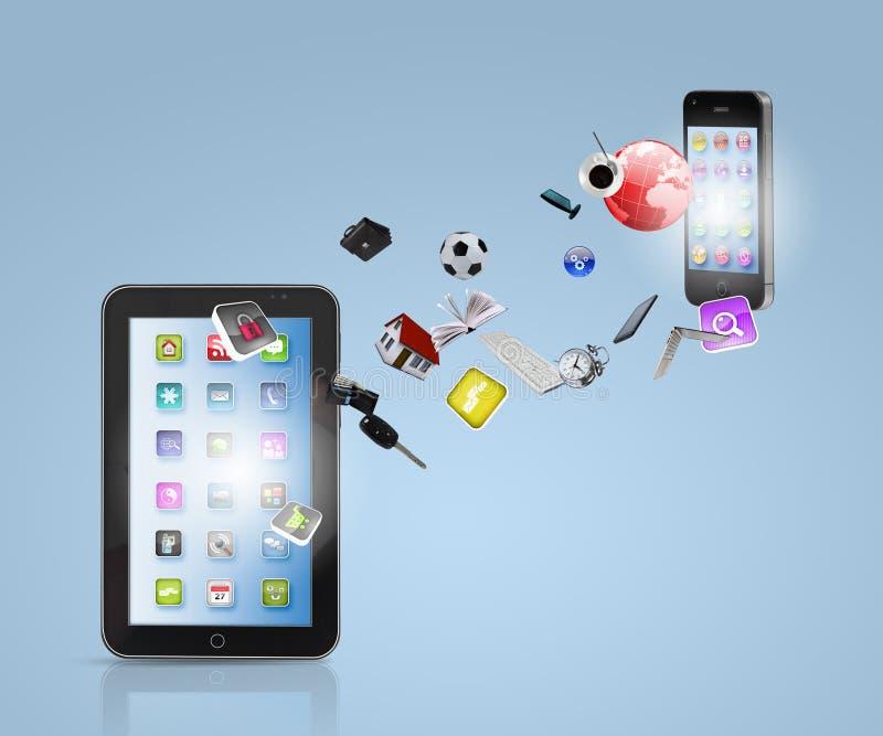 Moderne communicatie technologie royalty-vrije stock afbeelding