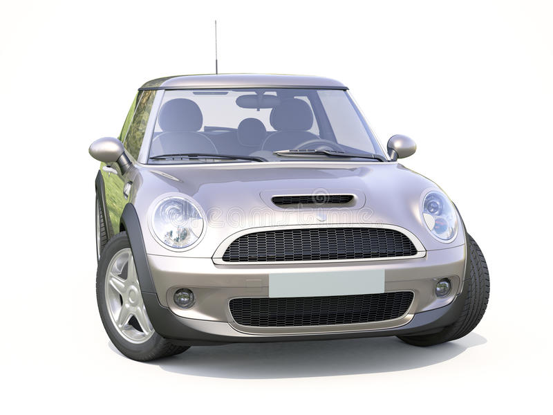 Moderne compacte auto royalty-vrije stock foto's