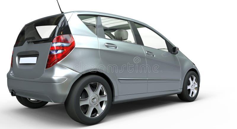 Moderne Compacte Auto - Achtermening stock foto
