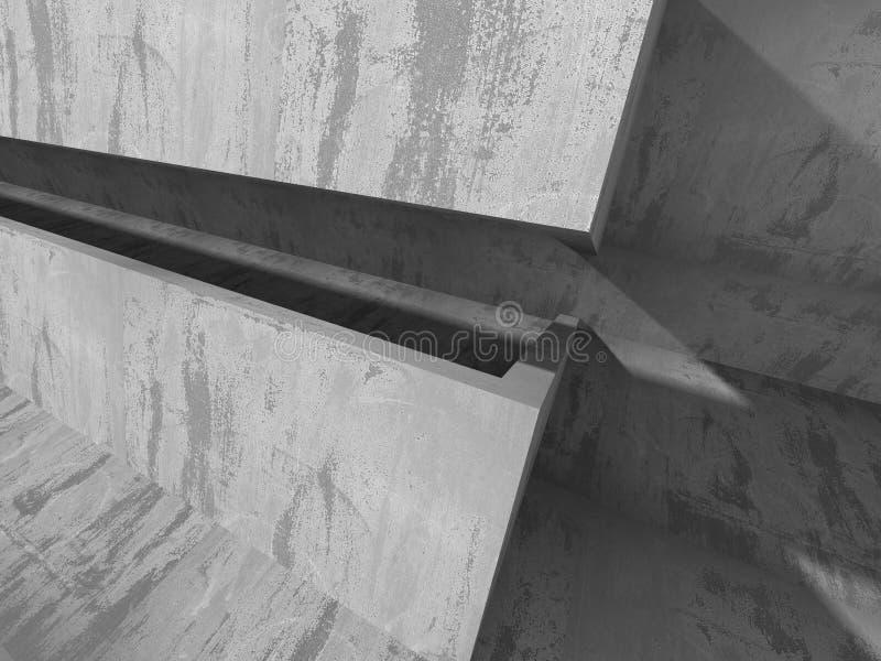 Moderne concrete architectuur abstracte achtergrond royalty-vrije illustratie