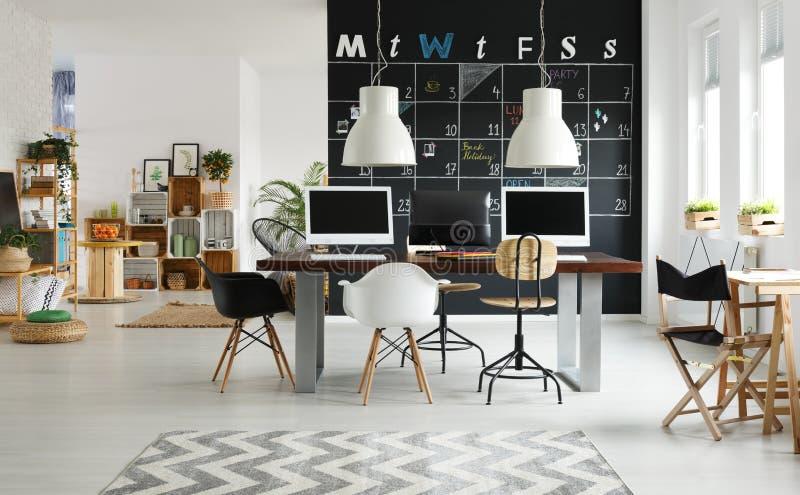 Moderne coworking ruimte stock afbeeldingen