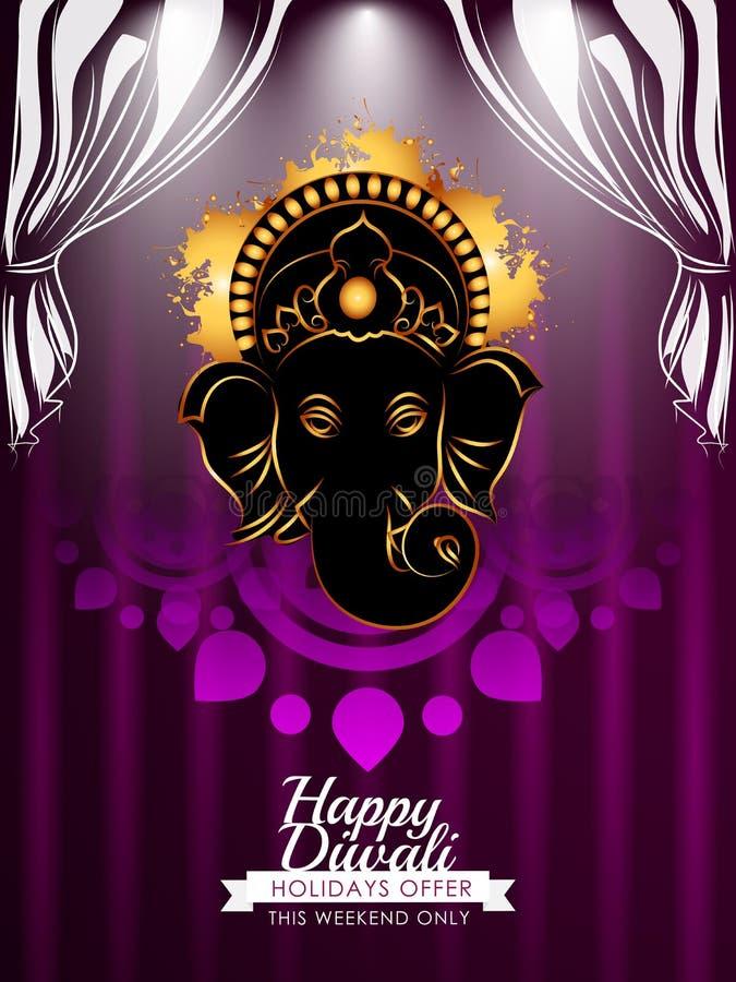 Moderne creatieve Diwali-kaart royalty-vrije stock foto
