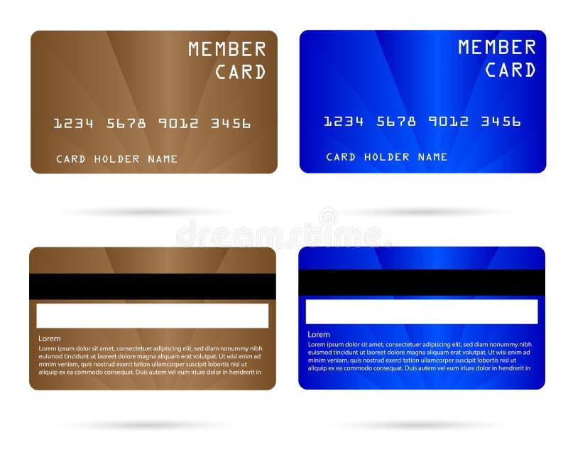Moderne creditcard, bedrijfsvip kaart, lidkaart vector illustratie