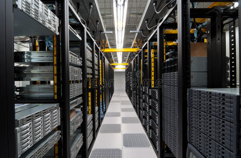 Moderne datacenter stock afbeelding