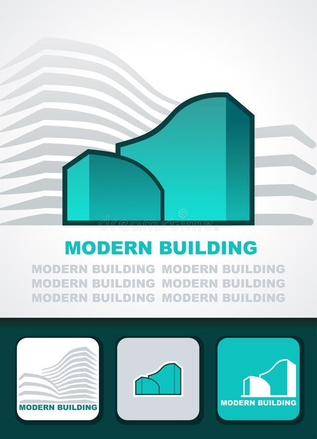 Moderne de bouwachtergrond royalty-vrije illustratie