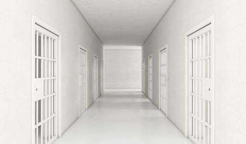 Moderne de Gang van de gevangeniscel vector illustratie