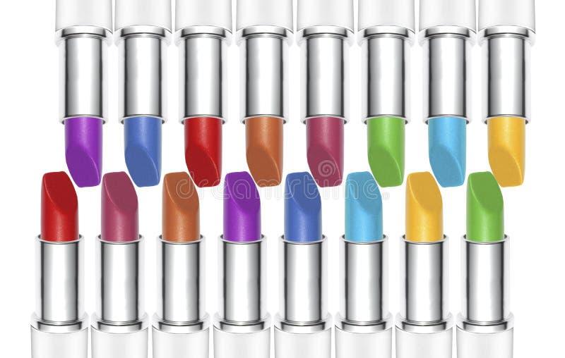 Moderne de kleurenwaaier van de make-uplippenstift royalty-vrije stock fotografie